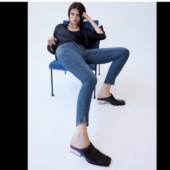 Zara Trafaluc Split Hem Denim Size US 4
